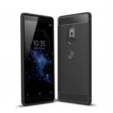 Чехол накладка TPU SK Fiber Carbon для Sony Xperia XZ2 Black