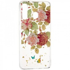 Чехол накладка TPU SK Deep Shine Flowers New для Xiaomi Redmi Go Rose