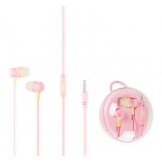 Наушники гарнитура вакуумные Keeka MC96 Promo Box Pink