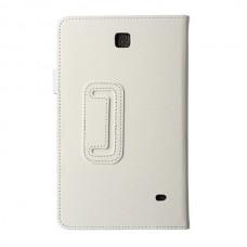 Чехол книжка кожаный Crazy Horse Grain для Samsung Galaxy Tab 4 8.0 T330 T331 T335 белый