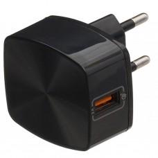 Адаптер сетевой Remax 1USB 3A Quick Charge RP-U114 Black
