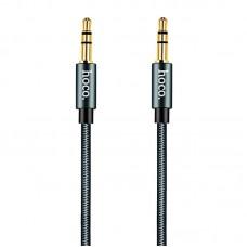 Кабель Aux Audio Hoco Noble UPA-03 3.5-3.5 нитка 1m серый
