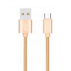 Кабель USB-Type-C Usams US-SJ030 Braided Wire U-Knit 1m Gold