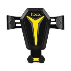 Автодержатель Hoco CA22 на решетку воздуховода черный желтый