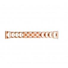 Браслет металлический SK D-Shape для Samsung Xiaomi Huawei Garmin Suunto 20mm Rose Gold