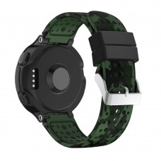 Ремешок TPU SK Pattern Printing для Garmin Forerunner 220 230 235 620 630 735 15mm Green