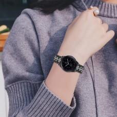 Браслет металлический SK Rhinestone для Samsung Xiaomi Huawei Garmin Suunto 20mm Black