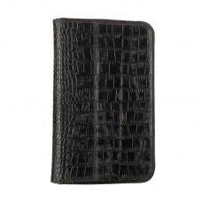 Чехол книжка кожаный WRX Premium для Samsung Tab 3 7.0 Lite T110 T111 Croco черный