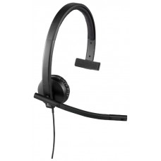 Наушники гарнитура накладные Logitech H570e Headset USB Black