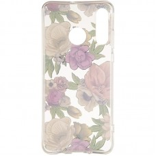 Чехол накладка TPU Gelius Flowers Shine для Huawei P30 Rose
