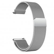 Браслет металлический SK Milanese для Samsung Xiaomi Huawei Garmin Suunto 20mm Silver
