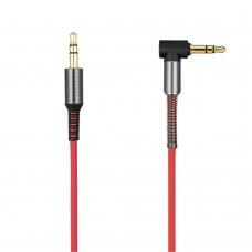 Кабель Aux Audio Hoco UPA-02 3.5-3.5 пружина 1m красный