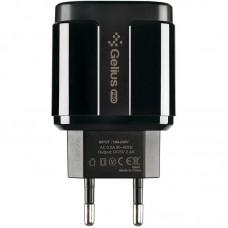 СЗУ Gelius Pro Avangard GP-HC06 2USB 2.4A + cable USB-Type-C Black