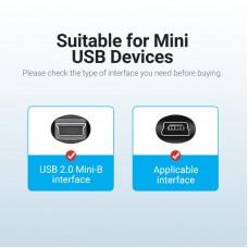Кабель USB-MiniUSB 2.0 5pin Vention PVC Round 2m Black (COMBH)