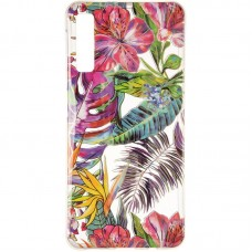 Чехол накладка TPU Gelius Flowers Shine для Samsung A750 A7 2018 Tropic