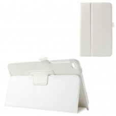 Чехол книжка кожаный Crazy Horse Grain для Asus Memo Pad 8 ME181C белый