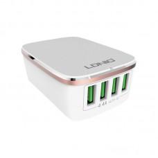 Адаптер сетевой Ldnio 4USB 4.4A DL-A4404 White