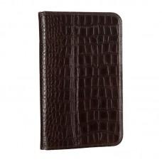 Чехол книжка PU WRX Premium для Samsung Tab 3 7.0 Lite T110 T111 Croco Dark Brown