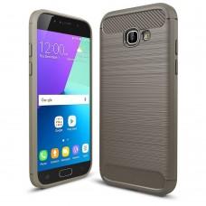 Чехол накладка TPU SK Fiber Carbon для Samsung A5 2017 A520 Grey