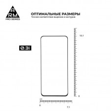 Защитное стекло Armorstandart Pro Full Glue для Samsung M31 M315 Black (ARM56219-GPR-BK)
