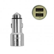 Адаптер автомобильный Golf 2 USB 2.1A GF-C06 серый