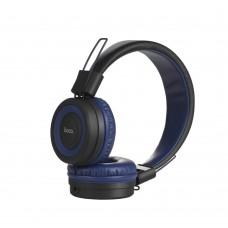 Наушники гарнитура накладные Bluetooth Hoco W16 Blue