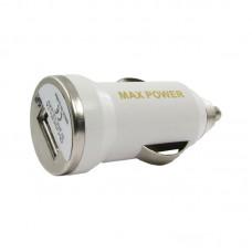 Адаптер автомобильный MaxPower Mini 1USB 1A White