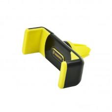 Автодержатель Remax RM-C01 на решетку воздуховода желтый