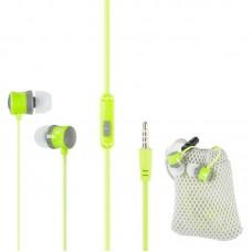 Наушники гарнитура вакуумные Keeka MC92 Carry Bag Green
