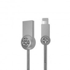 Кабель USB Lightning Remax OR Moon RC-085i iPhone 7 1m серебристый