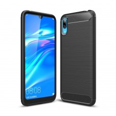 Чехол накладка TPU SK Fiber Carbon для Huawei Y7 2019 Black