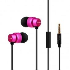 Наушники гарнитура вакуумные Awei ES970i Pink