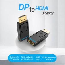 Адаптер DisplayPort-HDMI Vention F/M 4K 30Hz Upgraded gold-plated Black (HBKB0-A)