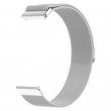 Браслет металлический SK Milanese для Samsung Xiaomi Huawei Garmin Fitbit 22mm Silver