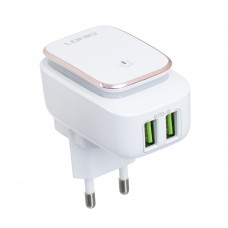 АЗУ Ldnio 2USB 2,4A + cable USB-MicroUSB DL-A2205 Led Touch White