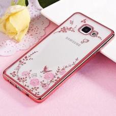 Чехол накладка TPU Remax Air Flower для Samsung A5 2017 A520 Pink