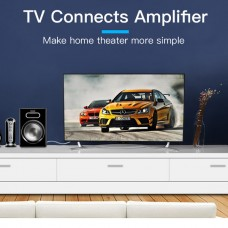 Кабель Audio 3.5мм-2RCA Vention PVC gold-plated 2m Black (BCFBH)