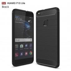 Чехол накладка TPU SK Fiber Carbon для Huawei P10 Lite Black