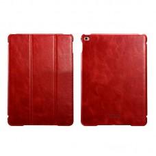 Чехол книжка кожаный Icarer Vintage Smart для Apple iPad Air 2 rid 602 красный