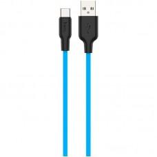 Кабель USB-Type-C Hoco X21 Silicone 1m Blue
