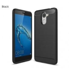 Чехол накладка TPU SK Fiber Carbon для Huawei Y7 Black