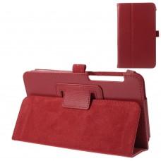 Чехол книжка кожаный Crazy Horse Grain для Asus Fonepad 7 FE375CXG красный