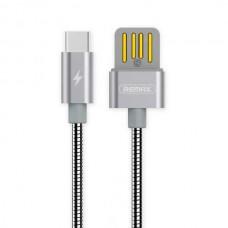 Кабель USB Type-C Remax OR Silver Serpent RC-080a 1m серебристый