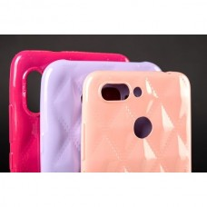 Чехол накладка TPU Baseus Rhombus для iPhone 5 5S SE Light Pink
