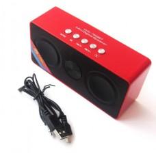 Колонка портативная Bluetooth Wster WS-768BT красный