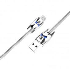 Кабель USB Micro Hoco U30 Shadow Knight 1.2m серебристый