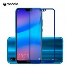 Защитное стекло Mocolo Full сover для Huawei P20 Blue