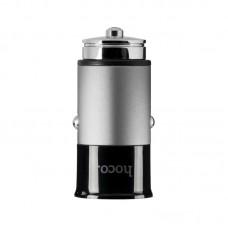 Адаптер автомобильный Hoco 2 USB 3.1A Z17A серый