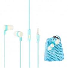 Наушники гарнитура вакуумные Keeka MC87 Blue