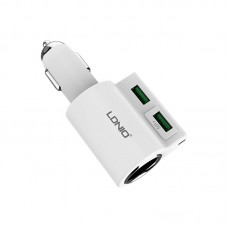 Адаптер автомобильный Ldnio 2 USB 4.2A DL-CM10 белый